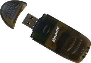 Obrázok pre výrobcu MSONIC čítačka pamäťových kariet SDHC/microSD/ miniSD/MMC/RS-MMC/TF USB2.0 čierny