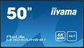 "Obrázok pre výrobcu 50"" iiyama LE5040UHS-B1 - AMVA3,4K UHD,8ms,350cd/m2, 4000:1,16:9,VGA, HDMI,DVI,USB, RS232,RJ45,repro"