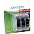 Obrázok pre výrobcu Dymo originál páska do tlačiarne štítkov, Dymo, S0847730, čierny podklad, 3m, 9mm, 3D, 1 blister/3 ks