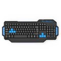 Obrázok pre výrobcu E-BLUE Klávesnica Mazer, herná, čierna, drôtová (USB), US + CZ/SK prelepky, podsvietené okraje
