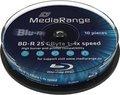 Obrázok pre výrobcu MEDIARANGE BD-R BLU-RAY 25GB 4x Cake 10