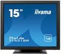 """Obrázok pre výrobcu 15"""" LCD iiyama T1531SR-B3 -5 žilový,8ms,350cd,VGA,DVI,USB,RS232C,repro,IP54,černý"""