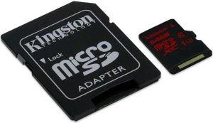 Obrázok pre výrobcu Kingston microSDXC karta 64GB UHS-I Class 3 (čítanie/zápis;90/80MB/s) + adaptér