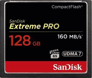 Obrázok pre výrobcu SanDisk Compact Flash Extreme karta 128GB (rýchlosť až 160MB/s)