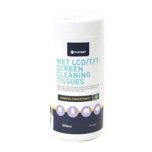 Obrázok pre výrobcu Platinet - Navlhčené čistiace utierky na LCT/TFT 100 ks