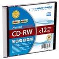 Obrázok pre výrobcu Esperanza CD-RW [ slim jewel case 1 | 700MB | 12x ] - kartón 200 ks