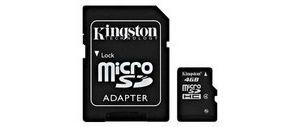 Obrázok pre výrobcu Kingston 8GB Micro SDHC - class 4 + adapter
