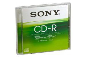 Obrázok pre výrobcu Média SONY CD-R CDQ80SJ, 48x, bal. 1ks