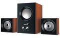Obrázok pre výrobcu Speaker GENIUS SW-2.1 375 WOOD SPK 12W (6W+3W X 2)