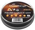 Obrázok pre výrobcu MEDIARANGE DVD+RW 4,7GB 4x spindl 10pck/bal