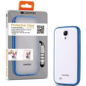 Obrázok pre výrobcu Canyon CNA-S4C01BL obal pre Samsung Galaxy S4 štíhly, pevný + ochrana displeja a stylus,  modrý