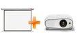 Obrázok pre výrobcu 3LCD Epson EH-TW6700 Full HD 3000 Ansi 70000:1 + plátno Nobo 200 x 135