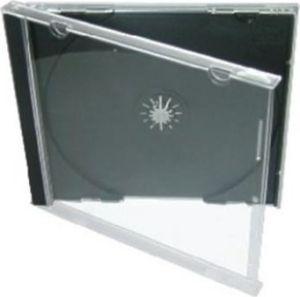 Obrázok pre výrobcu Jewel box na 1CD 1ks, priehľadný s čiernym trayom, 10,4mm