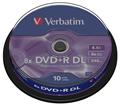 Obrázok pre výrobcu Verbatim DVD+R DL [cake box 10 | 8.5GB | 8x | matte silver]
