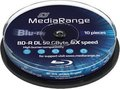 Obrázok pre výrobcu MEDIARANGE BD-R BLU-RAY 50GB 6x DoubleLayer spindl 10pck/bal