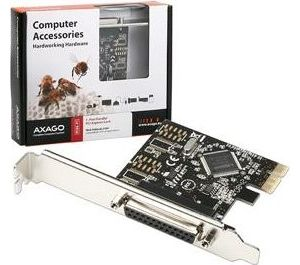 Obrázok pre výrobcu AXAGO, PCEA-P1, PCI express karta, 1x LPT, Full profile + Low Profile