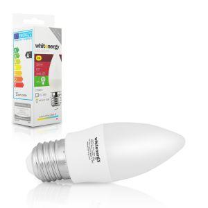 Obrázok pre výrobcu Whitenergy LED žiarovka | 7xSMD2835| C37 | E27 | 3W | 230V | studená bie| mlieko