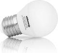 Obrázok pre výrobcu Whitenergy LED žiarovka   E27   10 SMD3528   5W   230V tepla biela   guľa B45