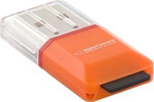 Obrázok pre výrobcu Esperanza EA134O Čítačka kariet MicroSD/TF USB 2.0, oranžová