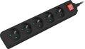 Obrázok pre výrobcu Přepěťová ochrana Lanberg PS1 5 zásuvky 1.5m vypínač černá