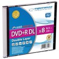 Obrázok pre výrobcu Esperanza DVD+R Double Layer [ Slim 1 | 8.5GB | 8x ] - kartón 200 ks