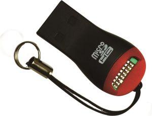 Obrázok pre výrobcu MSONIC čítačka pamäťových kariet microSD/microSDHC/TF USB 2.0 MC124 čierny