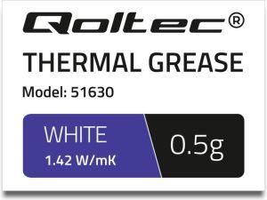 Obrázok pre výrobcu Qoltec teplovodivá pasta 1.42 W/m-K | 0.5g | White