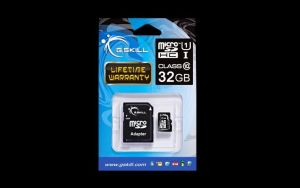 Obrázok pre výrobcu G.Skill memory card Micro SDHC 32GB Class 10 UHS-1 + adapter