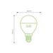 Obrázok pre výrobcu WE LED žárovka SMD2835 G45 E14 3W teplá bílá