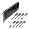 Obrázok pre výrobcu PNY NVIDIA NVS 810, 4GB GDDR3 (128 Bit), 8x miniDP, 8x miniDP to DP adapters
