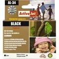 Obrázok pre výrobcu Atrament ActiveJet AL-34 | Black | 25 ml | Refill | Lexmark 18C0034E