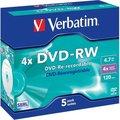 Obrázok pre výrobcu Verbatim DVD-RW (5-pack)Jewel/4x/DLP/4.7GB