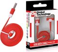 Obrázok pre výrobcu GT kábel USB pre iPhone 3G/3Gs/4/4s plochý červený