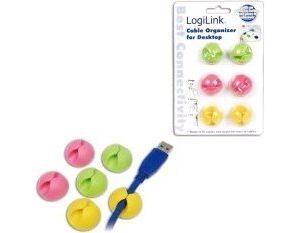 """Obrázok pre výrobcu LOGILINK - Kábel Organizátor """"klip"""" farebný"""