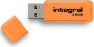Obrázok pre výrobcu INTEGRAL Neon 32GB USB 2.0 flashdisk, oranžový