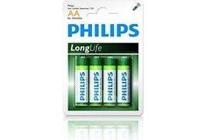 Obrázok pre výrobcu Philips baterie AA LongLife zinkochloridová - 4ks, blister