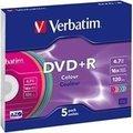 Obrázok pre výrobcu Verbatim DVD+R(1ks)Slim/Colour/16x/4.7GB