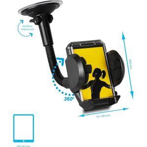 Obrázok pre výrobcu Whitenergy Univerzálny držiak GSM/PDA/GPS do auta, sklo