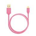 Obrázok pre výrobcu AXAGON HQ Kabel Micro USB, 2A, růžový, 1 m