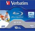 Obrázok pre výrobcu Verbatim BD-R DL 50GB 6x Wide Printable Jewel Case, 1ks