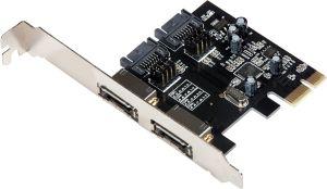 Obrázok pre výrobcu i-tec PCIe SATA III Card 2x eSATA + 2x int. SATA