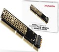 Obrázok pre výrobcu AXAGON PCEM2-1U, PCIe x16/x8/x4 - M.2 NVMe M-key slot adaptér, 1U