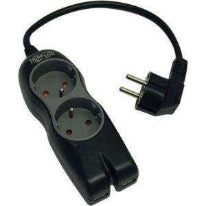 Obrázok pre výrobcu TrippLite PROTECT IT!® Series TLP2USBF Prepäťová ochrana- 2xFR,2x USB/nabíjačka/