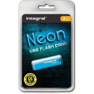 Obrázok pre výrobcu INTEGRAL Drive Neon 4GB USB 2.0 flashdisk, modrý