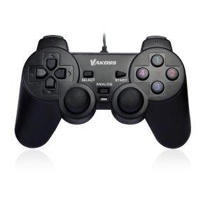 Obrázok pre výrobcu VAKOSS USB double Shock Gamepad, podporuje analógový a digitálny režim GP-3755BK