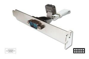 Obrázok pre výrobcu Digitus záslepka slotu se sériovým DB9 portem + kabel 0,25m