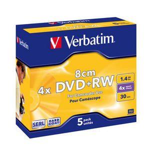 Obrázok pre výrobcu Verbatim mini DVD+RW [ jewel case 5 | 1.4GB | 4x ]