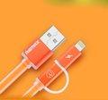 Obrázok pre výrobcu Datový kabel AURORA ,Micro USB / lighting,oranžová