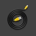 Obrázok pre výrobcu Datový kabel ALIEN, micro USB,barva černo-žlutá