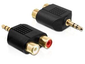 Obrázok pre výrobcu Delock audio adaptér stereo jack 3.5 mm 3 pin samec > 2 x RCA (CINCH) samice